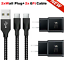 miniature 26 - 3/6/10FT Braided USB C Type-C Fast Charging Data SYNC Charger Cable Cord