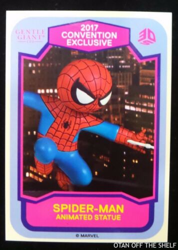 SDCC Comic Con 2017 EXCL Gentle Giant raffle card STAR WARS Gertrude Spider Man