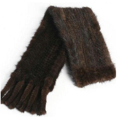 Super Moderne Tricot Farm vison écharpe fourrure Cape étole châle Wrap Free Taille Fit All