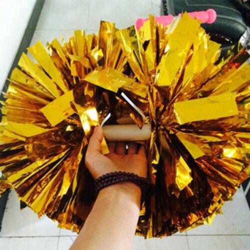 2PC Handheld Poms Cheerleader Dance Wear Hen Party Fancy Dress Accessory 6Colors