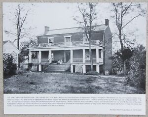 New Civil War Photo McLean Confederate Surrender House in Appomattox 6 Sizes!