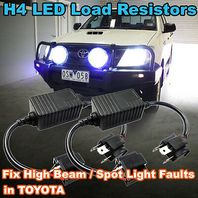Pair of H4 LED Headlight Load Resistors to Fix TOYOTA High Beam Spot Light  Fault | eBay
