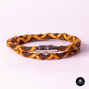 Kavak - Handmade Bright Yellow Cord Adjustable Women's Bracelet
