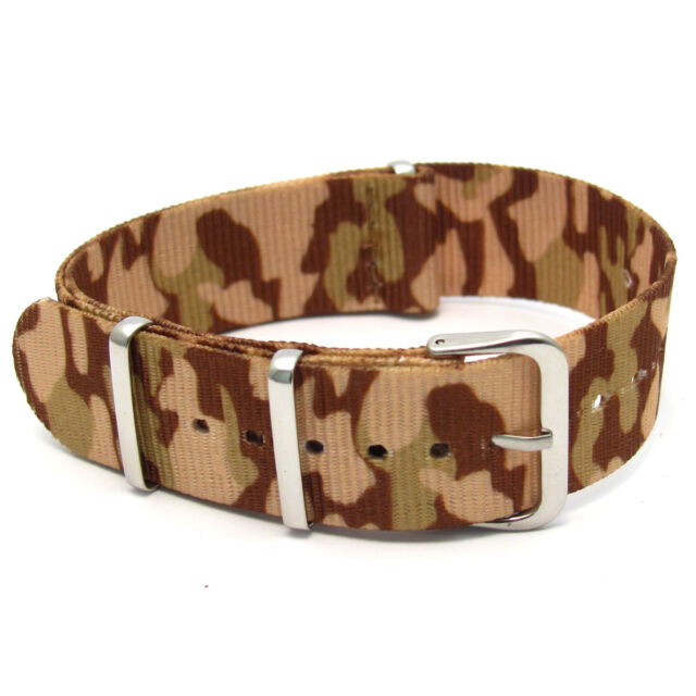 NATO G10 Camouflage Watch Strap Band - Choice of colour 16mm 18mm 20mm 22mm 24mm