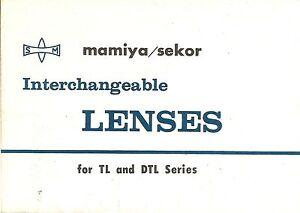 Mamiya-Sekor-Lenses-for-TL-amp-DTL-Original-Foldout-Leaflet-Brochure