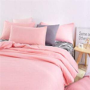 light pink single queen king bed set pillowcase quilt duvet cover zebra o ebay. Black Bedroom Furniture Sets. Home Design Ideas