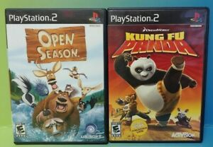 Disney Kung Fu Panda + Open Season -  PS2 Playstation 2 Game Lot Tested Complete
