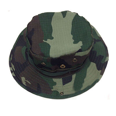 New Unisex Bucket Hat Boonie Hunting Fishing Outdoor Cap - Wide Brim Military GR