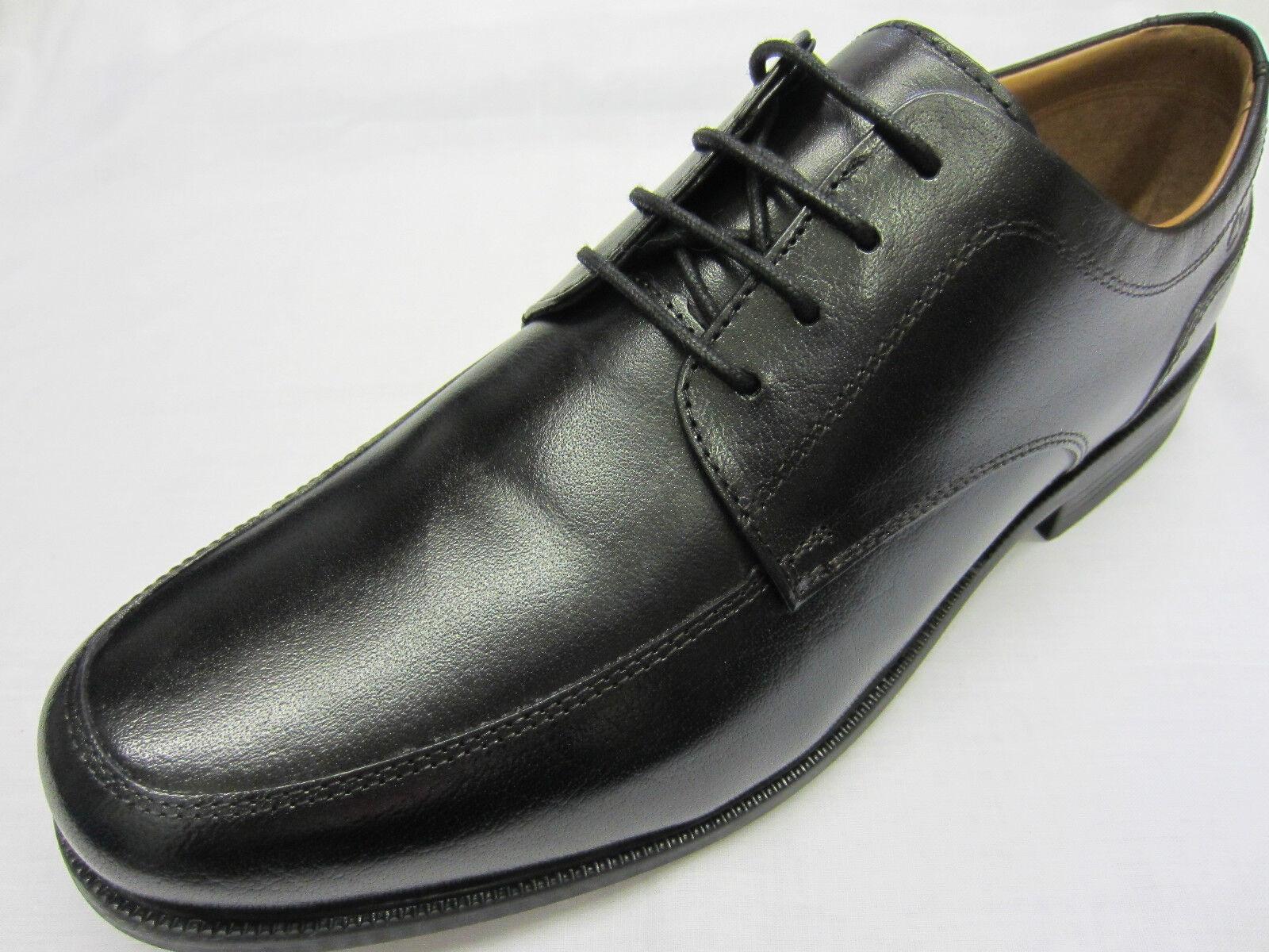 Clarks De Beeston Delantal Hombre Zapatos De Clarks Piel Negros Con Cordones 545b61