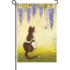 "Garden Size Flag PR 56075 Candy Corn Cat  Brilliance 12/"" x 18/"" Approx"