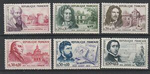 FRANCOBOLLI-1960-FRANCIA-6-VALORI-CROCE-ROSSA-MNH-E-1793