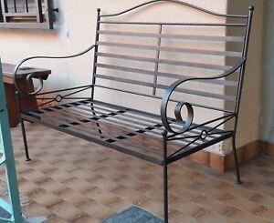 Poltrone In Ferro Da Giardino.Dettagli Su Panchina Poltrona In Ferro Da Giardino Terrazzo Usata