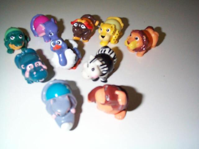 Kinder Surprise Full Set of 10 Svitatelli Safari Ball Animals 1994
