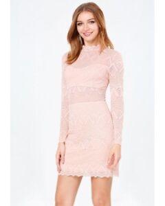 c8996904d41 NEW Women's Bebe Raquel Open Back Lace Dress Peach Pink size 10 | eBay