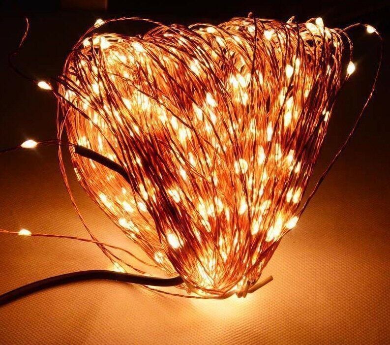 Copper Wire Fairy String 50M 500LED Lights Patio Christmas Tree Indoor Light New