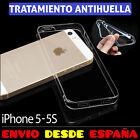FUNDA TPU DE GEL SILICONA ANTIHUELLAS TRANSPARENTE PARA IPHONE 5 5S CARCASA