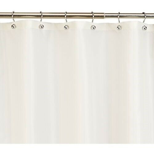 Extra Long Fabric Shower Curtain Liner//Water repellent//Weighted Hem