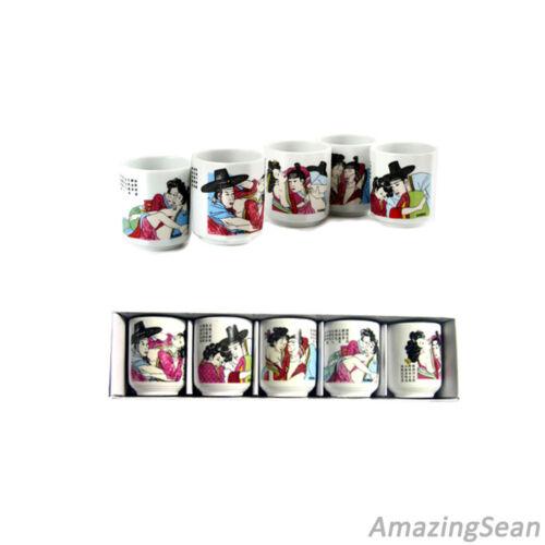 5 Ceramic Shot Glass for Soju Glass Korea Traditional Glass Korean Gift