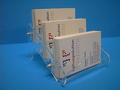 Visitenkartenhalter glasklar 1 Fach für 50 Karten aus Acryl 9,5 x 5,5 x 3,9 Neu