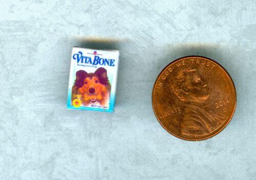 1:24 Half Inch Scale  Dollhouse Miniature Dog Bone Box
