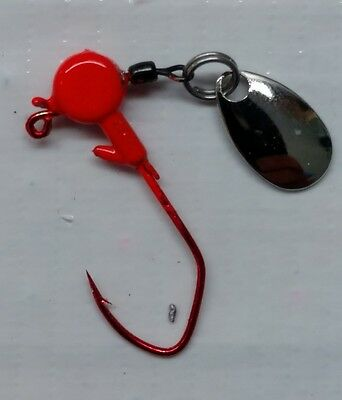 Black spinner jig with #2 red Eagle Claw Lil/' Nasty hook 20ct. 1//16oz