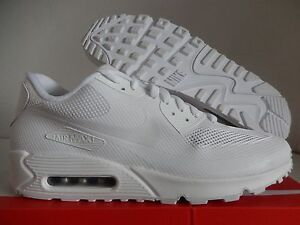 ed0457c6b31 NIKE AIR MAX 90 HYP HYPERFUSE PREMIUM iD ALL WHITE SZ 13  653603-991 ...