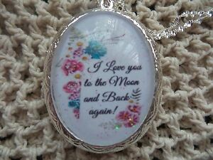 (LOCKET) I LOVE YOU TO THE MOON AND BACK AGAIN FLORAL LOCKET