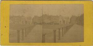 Londra London Marble Arch UK Foto Stereo Vintage Albumina Ca 1875