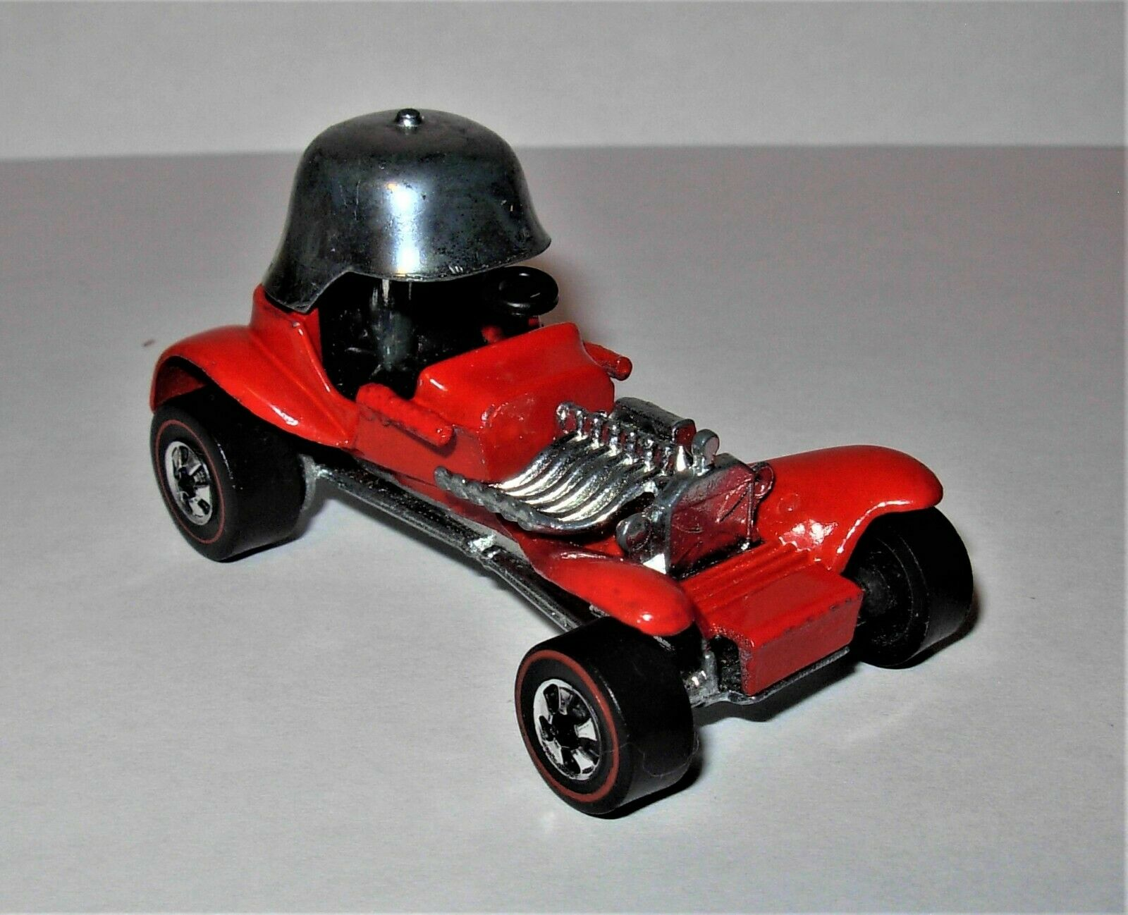Near Mint Hot Wheels Redline  73 Red Baron  in Enamel Red HK