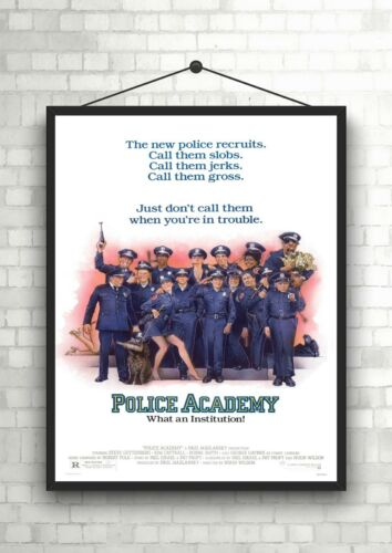 Police Academy Classic Movie Poster Art Print A0 A1 A2 A3 A4 Maxi