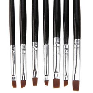 Unghie-Ricostruzione-7Pz-Pennelli-UV-Decorazione-Pen-Gel-Kit-Set-Nail-Art-mk