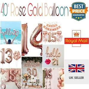 Rose-Gold-Giant-40-034-Number-Helium-Air-large-Foil-Balloon-Birthday-party-Wedding