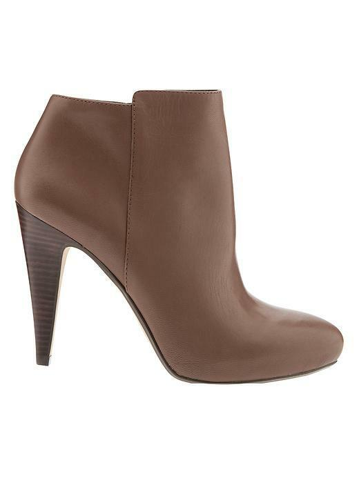 NIB BANANA REPUBLIC Damenschuhe Tilia Ankle Zip 9 Stiefel Bootie Cognac Braun 9 Zip 9.5 198 3b1a73