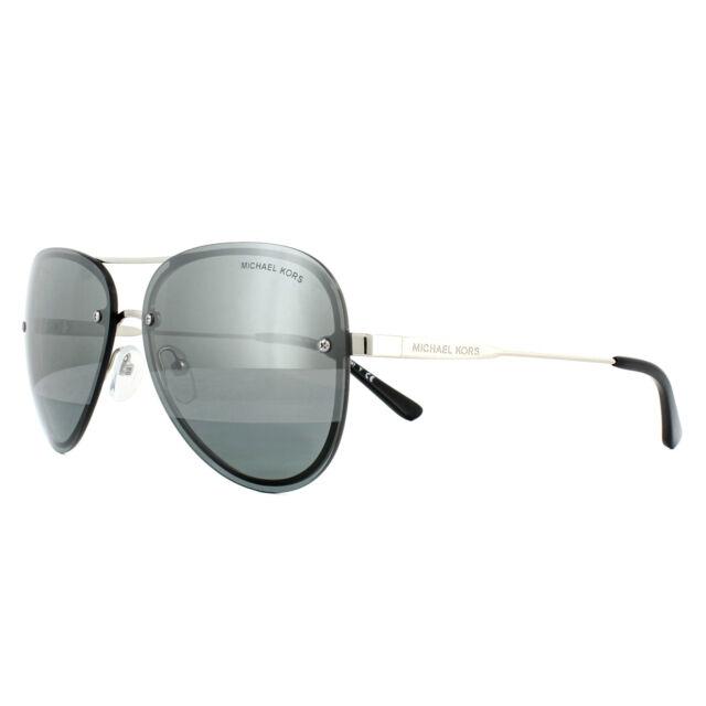 98e2a7be9e6e Michael Kors Sunglasses La Jolla MK1026 11181Y Silver Tone Block Gunmetal  Mirror