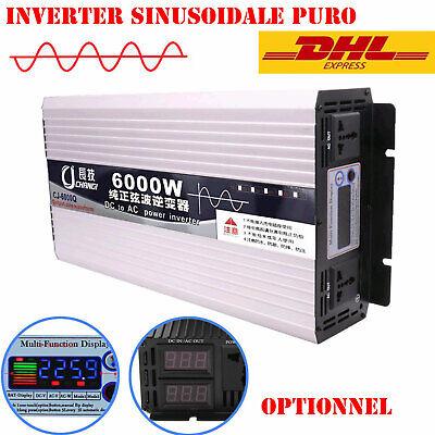 Display LCD Inverter A Onda Sinusoidale Pura Trasformatore di Tensione di Alimentazione 12V // 24V // 48V // 60V // 72V A 110V // 220V con Cavo Batteria,60V-220V-3000W