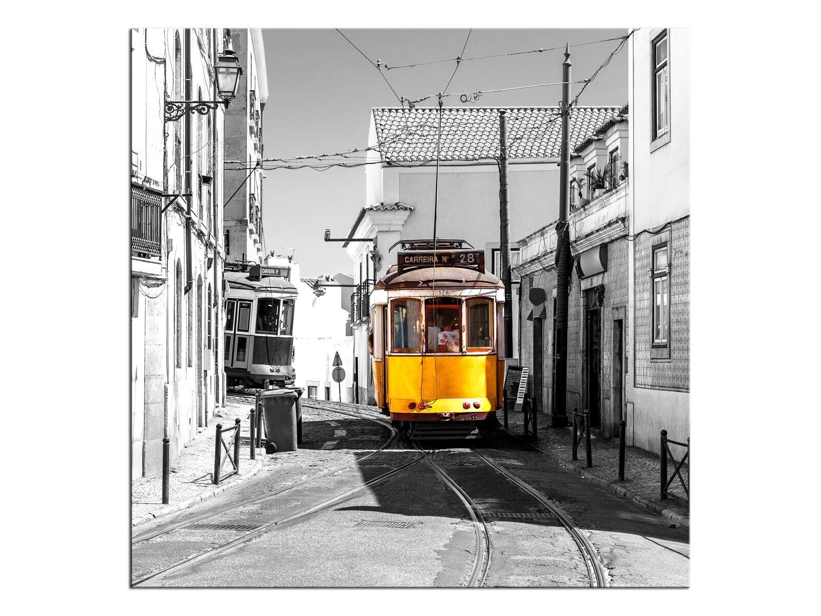 Lissabon Wandbild auf Keilramen bepannt A05907 Leinwandbild quadratisch