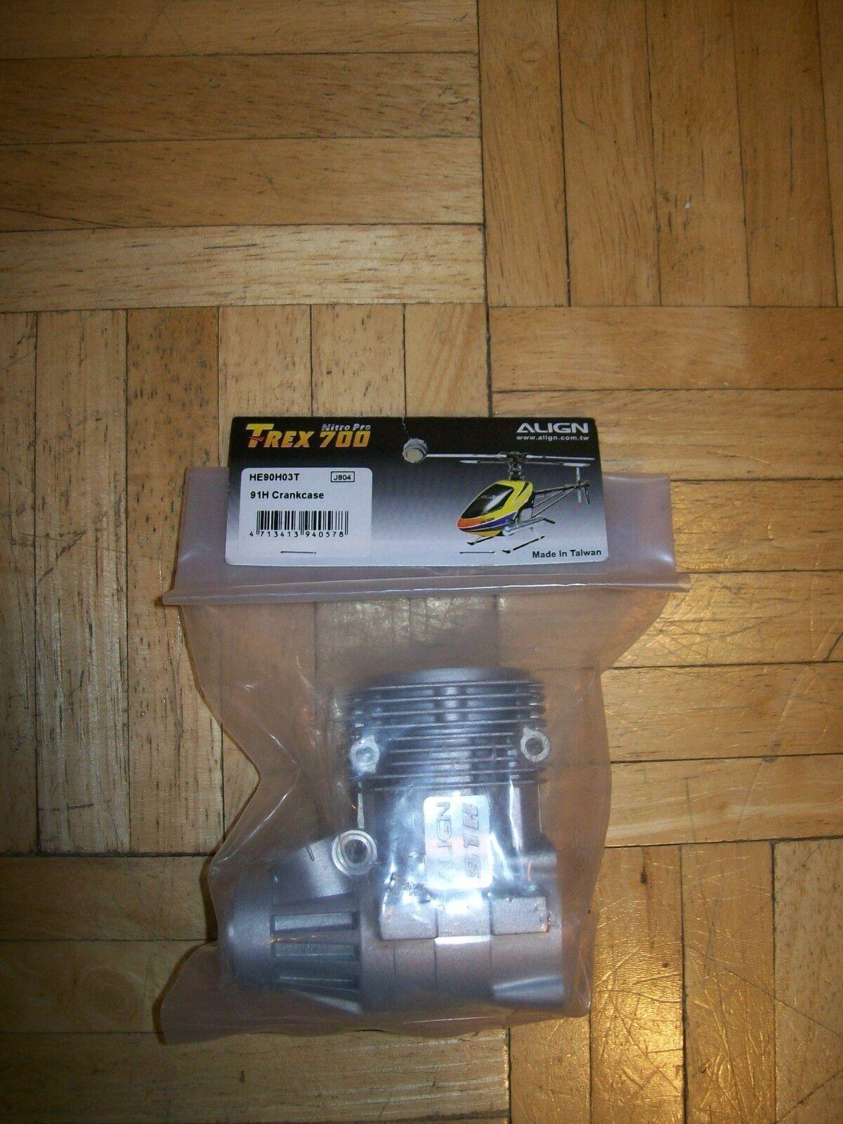 Align T-Rex 700 Nitro Pro 91H Crankcase HE90H03T Upgrade Nuovo