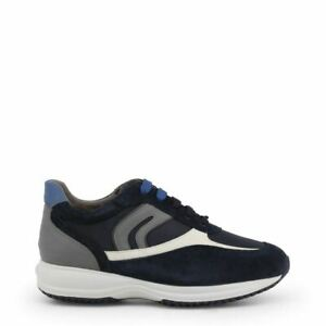 Geox Happy Men Sneakers Suede Low Top Lace Up Athletic Shoes