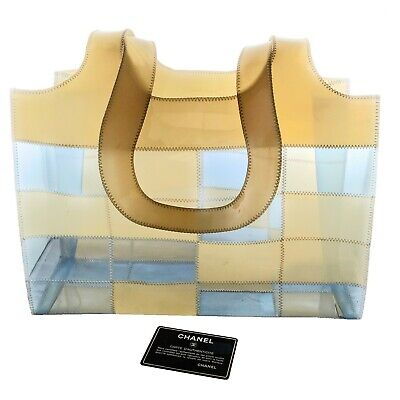 Vintage Patchwork Quilted Canvas Chain Tote Purse