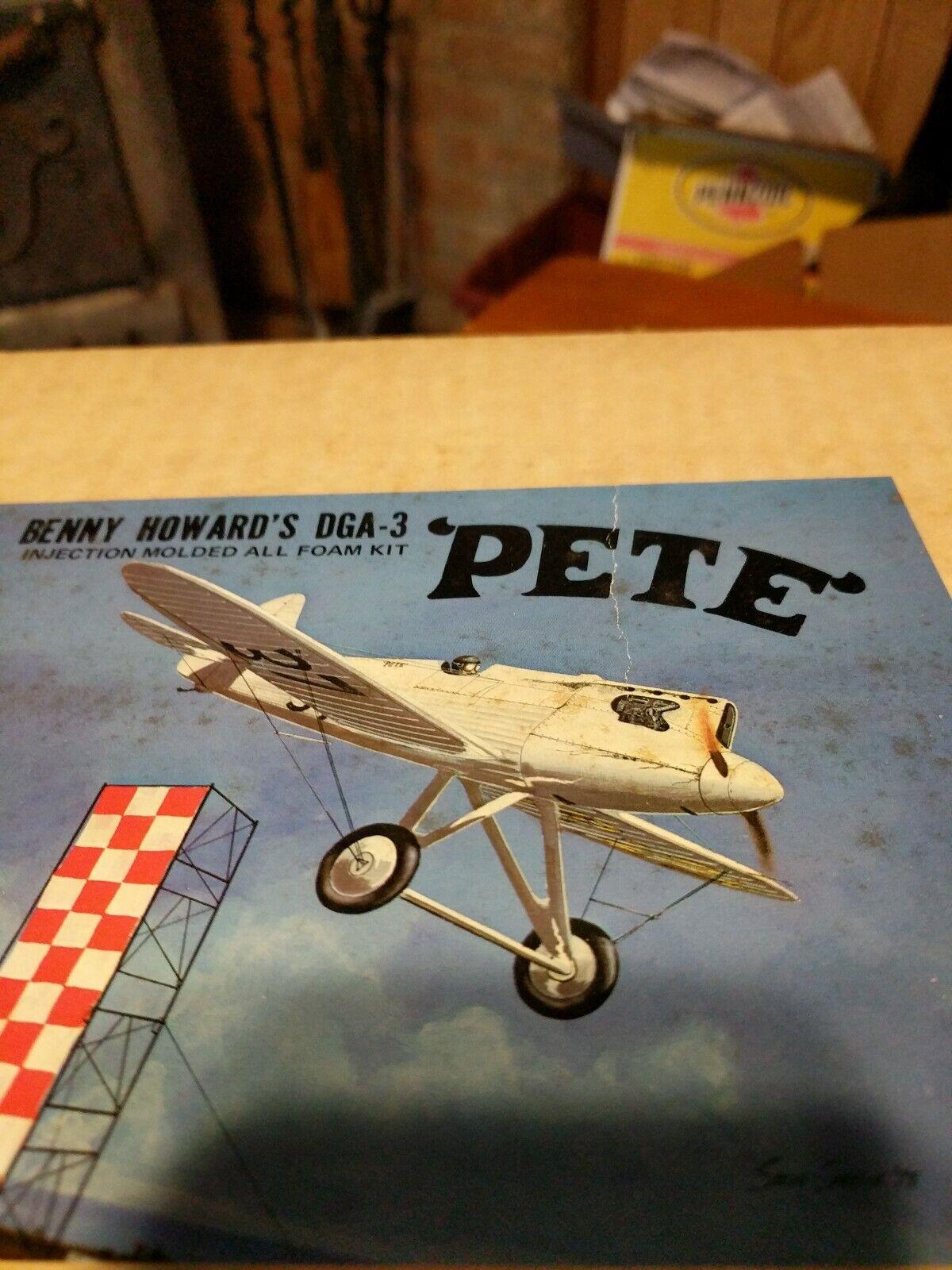 R C Sure Flite  Pete''  DGA-3 Foam Kit  Classic 1930's Racer .10 Engine WS-36''