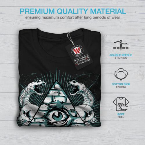 Gli illuminati Serpente Moda Uomo manica lunga T-shirt Nuovewellcoda