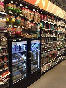 2 Door Commercial Gl Refrigerator Cooler Merchandiser 4 Ft Wide Ebay