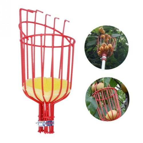 Outdoor Deep Basket Garden Tools Fruit Picker Head Metal Fruit Picking Tools E4W