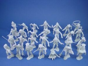 MARX-Miners-Trappers-Cowboys-Outlaws-GRAY-32-Recast-54mm-Figures-FREE-SHIP