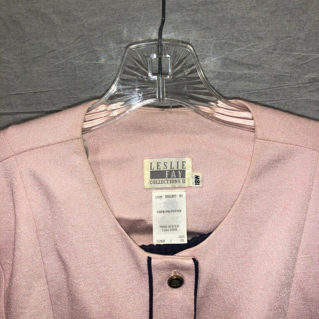 Vintage Women's Suit Pink Blazer and Black Skirt … - image 5