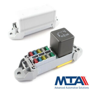 details about heavy duty relay holder 10 mini fuse box complete with terminals mta italy battery fuse holder relay holder fuse box terminals #9