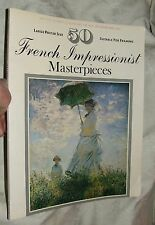 50 FRENCH IMPRESSIONIST MASTERPIECES 1977 Large Poster Size Suitable for Framing