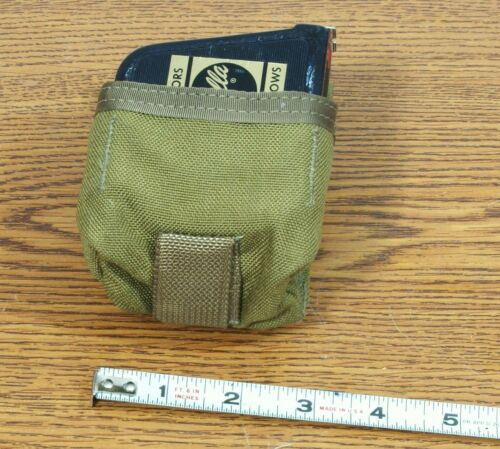 MOLLE USMC TAPE MEASURE WALLET POUCH COYOTE BROWN EAGLE IND.