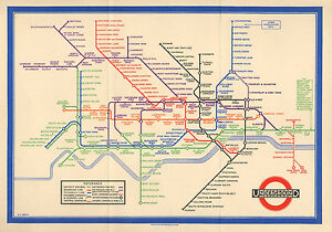image is loading large framed print vintage 1933 london underground tube
