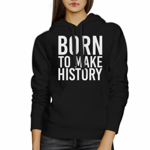 Details about  /Born To Make history Black Hoodie Pullover Fleece Yuri on Ice